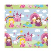 Princess & Unicorn Roll Wrap 1.5m